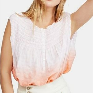 FREE PEOPLE Little Bit of Something Ombre Top